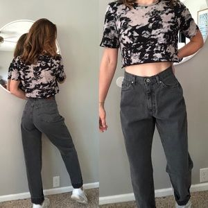 Vintage Lee gray high waisted mom jeans